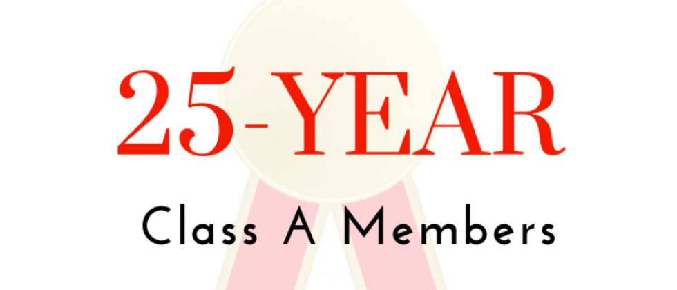 25-Year Class A Members Recognized at Annual General Meeting